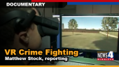 VR Crime fighting graphic
