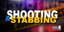 POLICE INVESTIGATE SHOOTING & STABBING