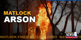 ARSON SUSPECTED IN THREE MATLOCK AREA FIRES