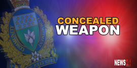 MAN ARRESTED ON WEAPONS CHARGES AFTER BEING FOUND ON STREET WITH CONCEALED RIFLE