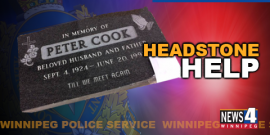 POLICE FIND HEADSTONE BUT CAN'T LOCATE FAMILY OR GRAVESITE