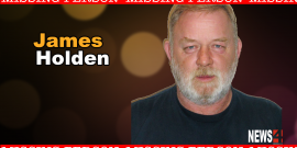 MISSING JAMES HOLDEN, LAST SEEN AT BREAKFAST TABLE