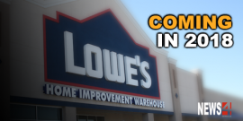 LOWES TO OPEN WINNIPEG STORE IN 2018