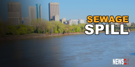 UNTREATED SEWAGE SPILLS INTO RED RIVER