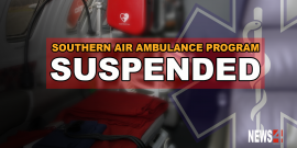 PROVINCE SUSPENDS SOUTHERN AIR AMBULANCE PROGRAM