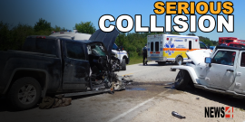 EIGHT INJURED IN HIGHWAY 59 COLLISION