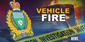 FOUR BURNED IN LATE NIGHT CAR FIRE SATURDAY