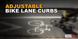 City testing adjustable curbs for bike lanes
