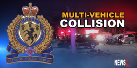 Brandon driver slams into four parked vehicles needs to be extricated from van