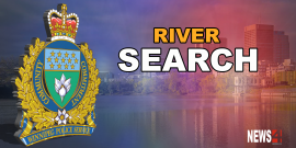 Police search Red River for male youth after he attempted to swim across it