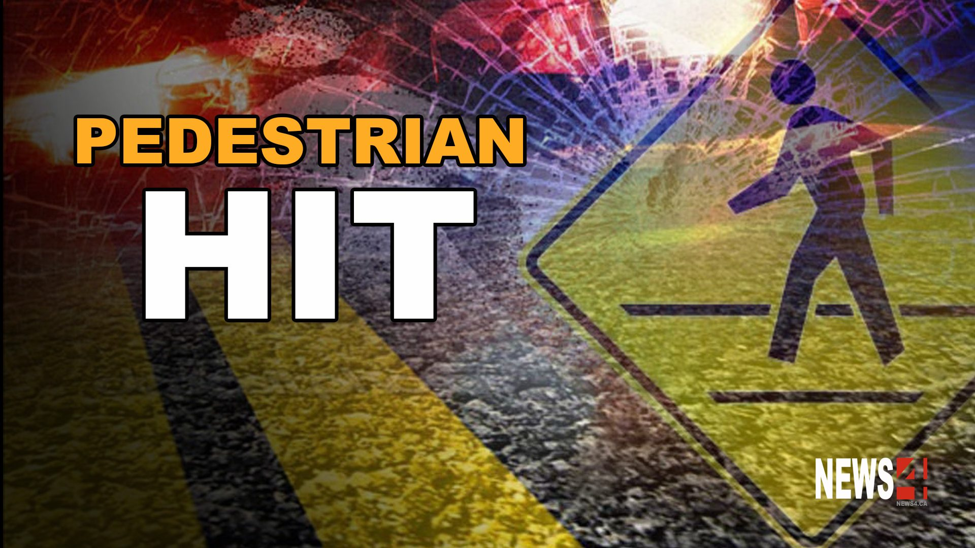 Pedestrian Hit Graphic