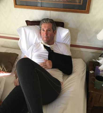 Premier Pallister recovering from a serious fall while hiking in New Mexico