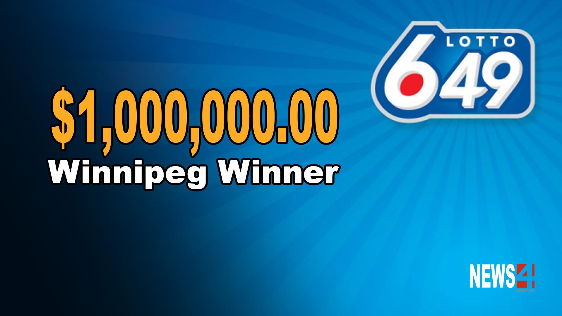 649 ticket worth $1 million bought in Winnipeg
