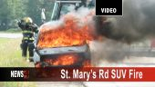 St. Mary's Rd Vehicle Fire Graphic