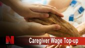 Caregiver wage top-up