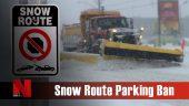Snow route parking ban