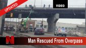 Man recued from overpass