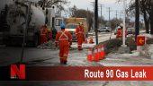 Route 90 gas leak