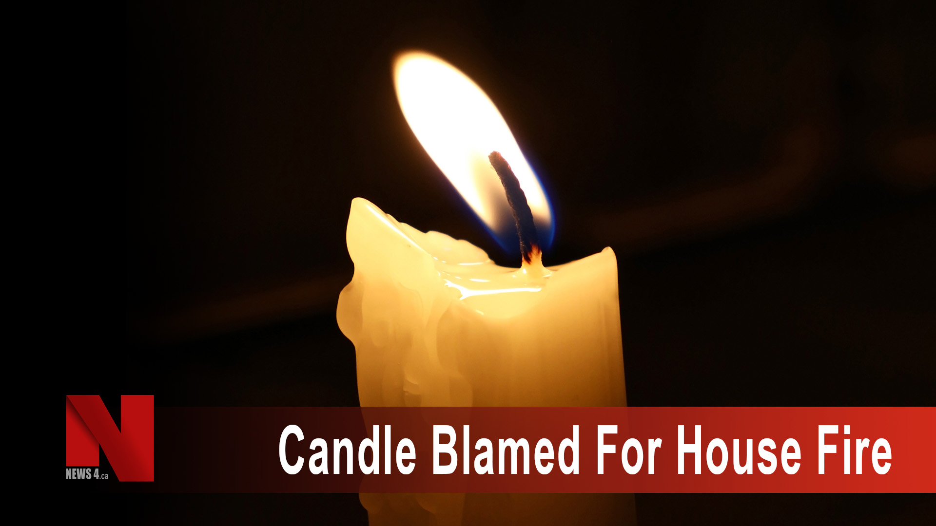 Candle blamed for house fire