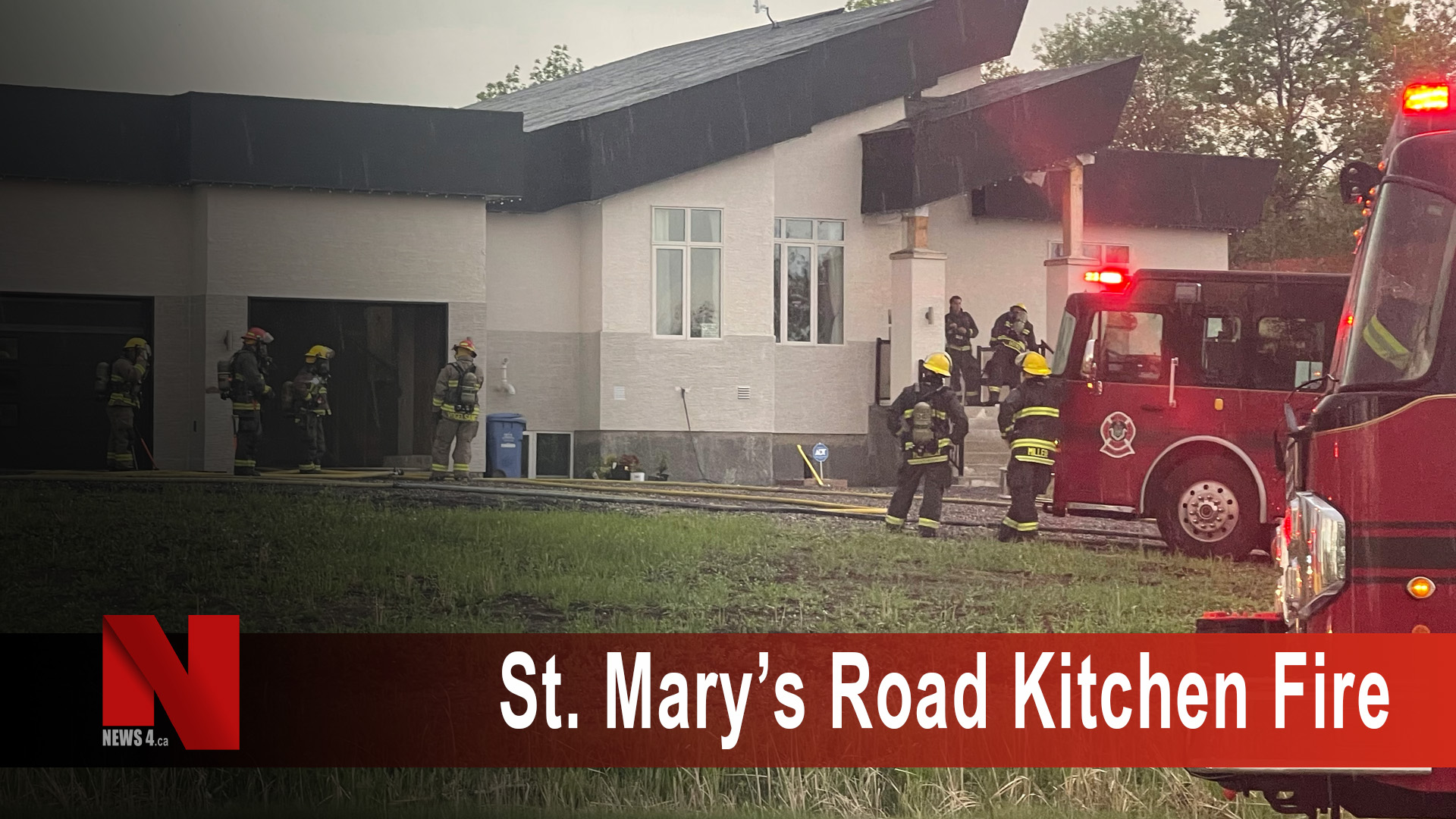 St Mary's road kitchen fire