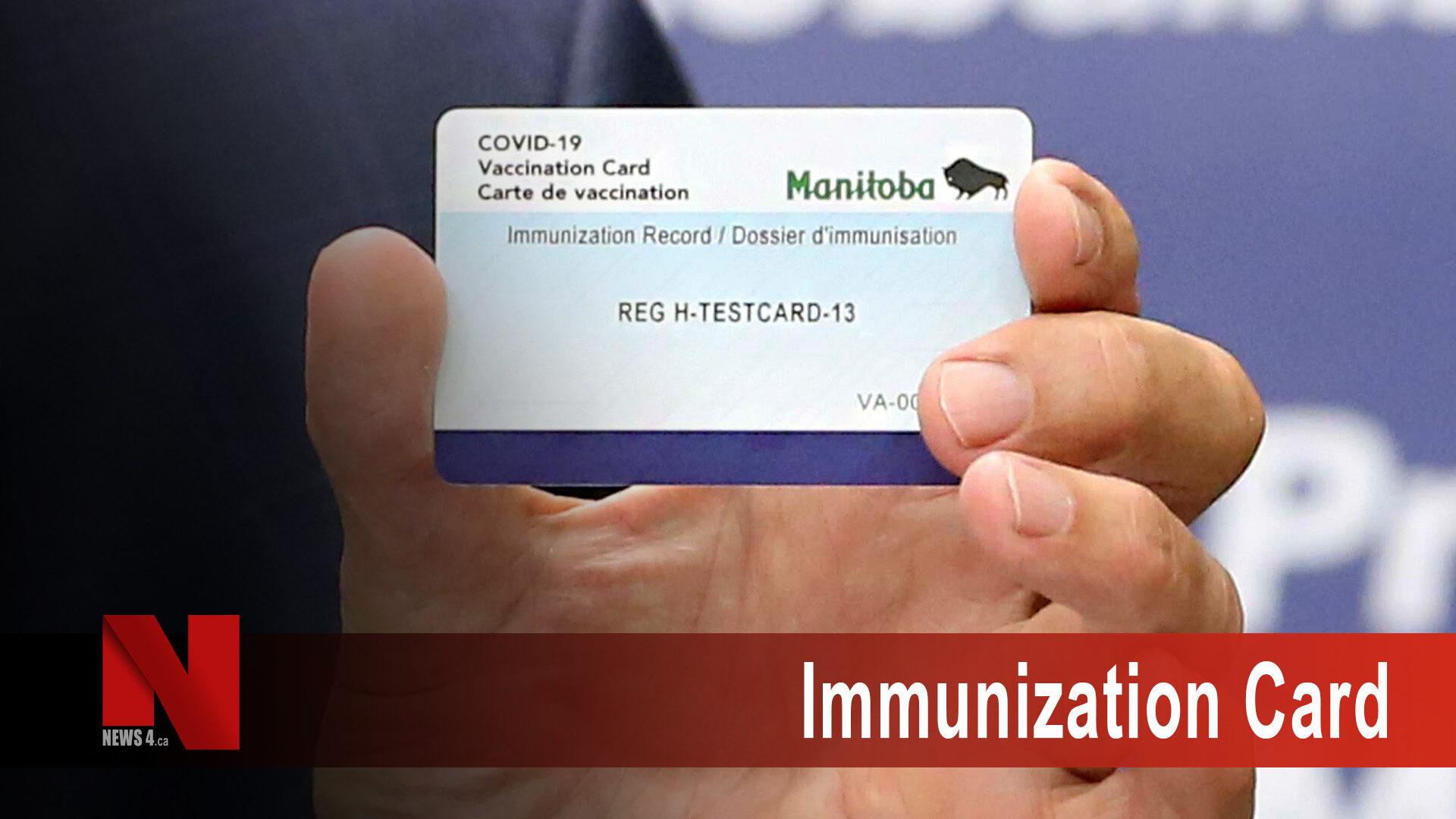 Immunization card