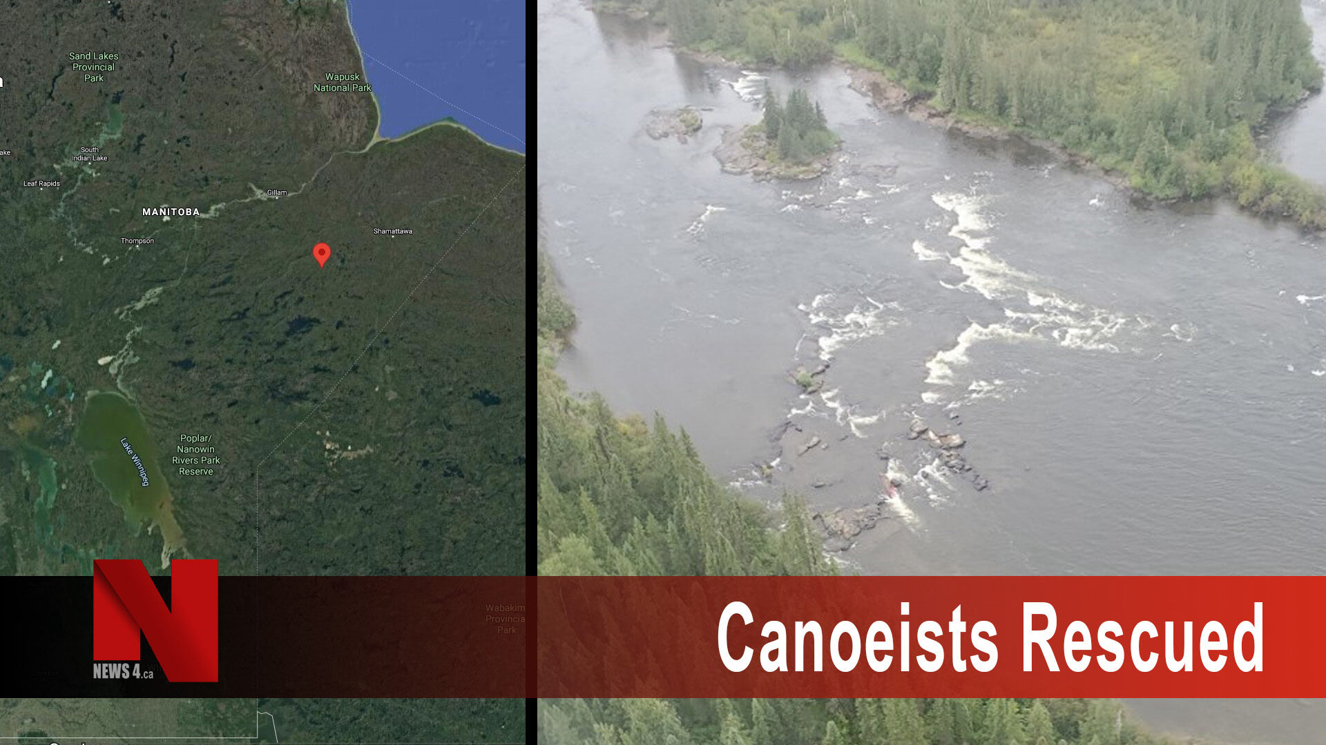 Canoeists rescued