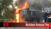 McAdam Avenue Fire