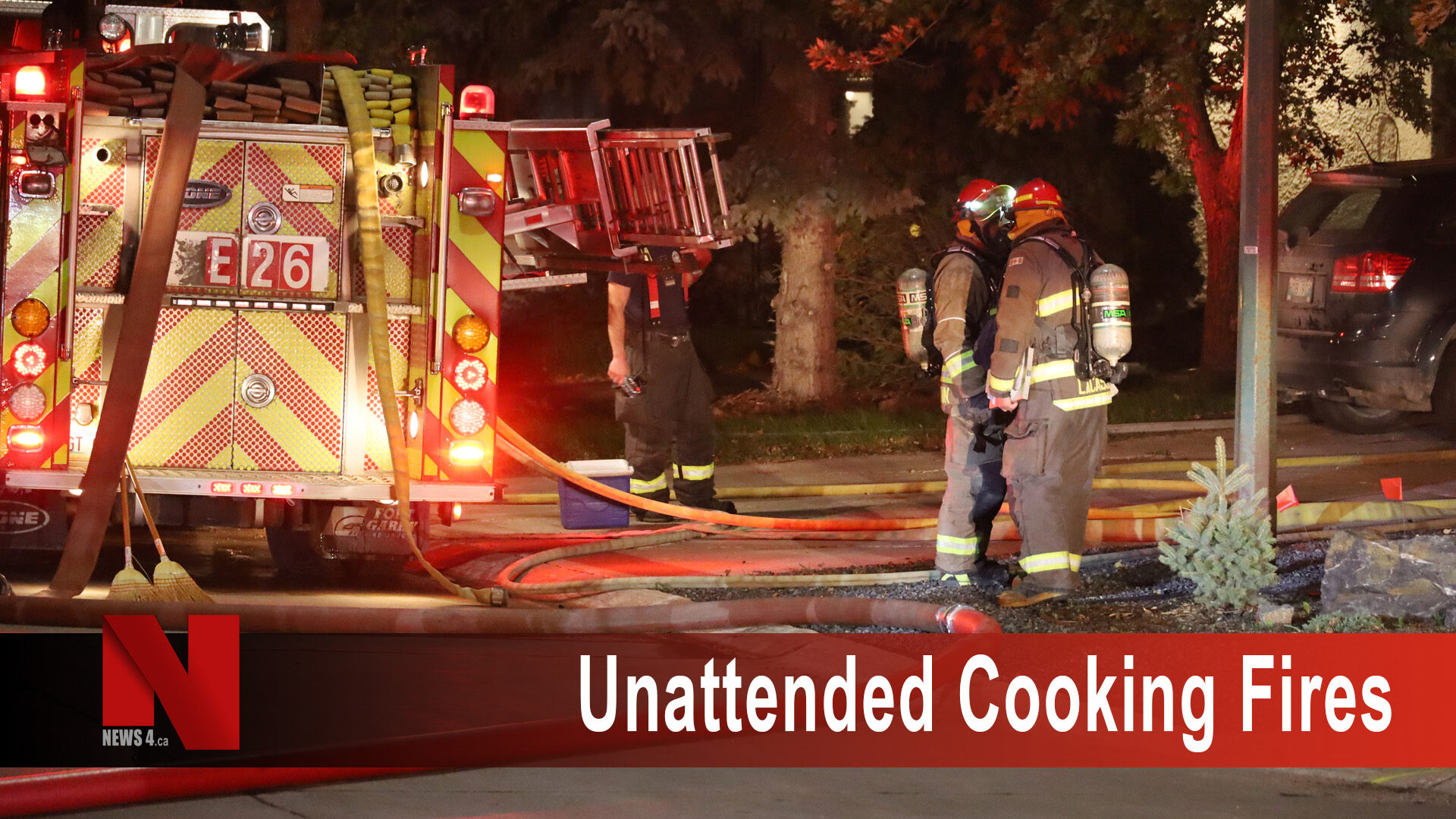 Unattended cooking fires