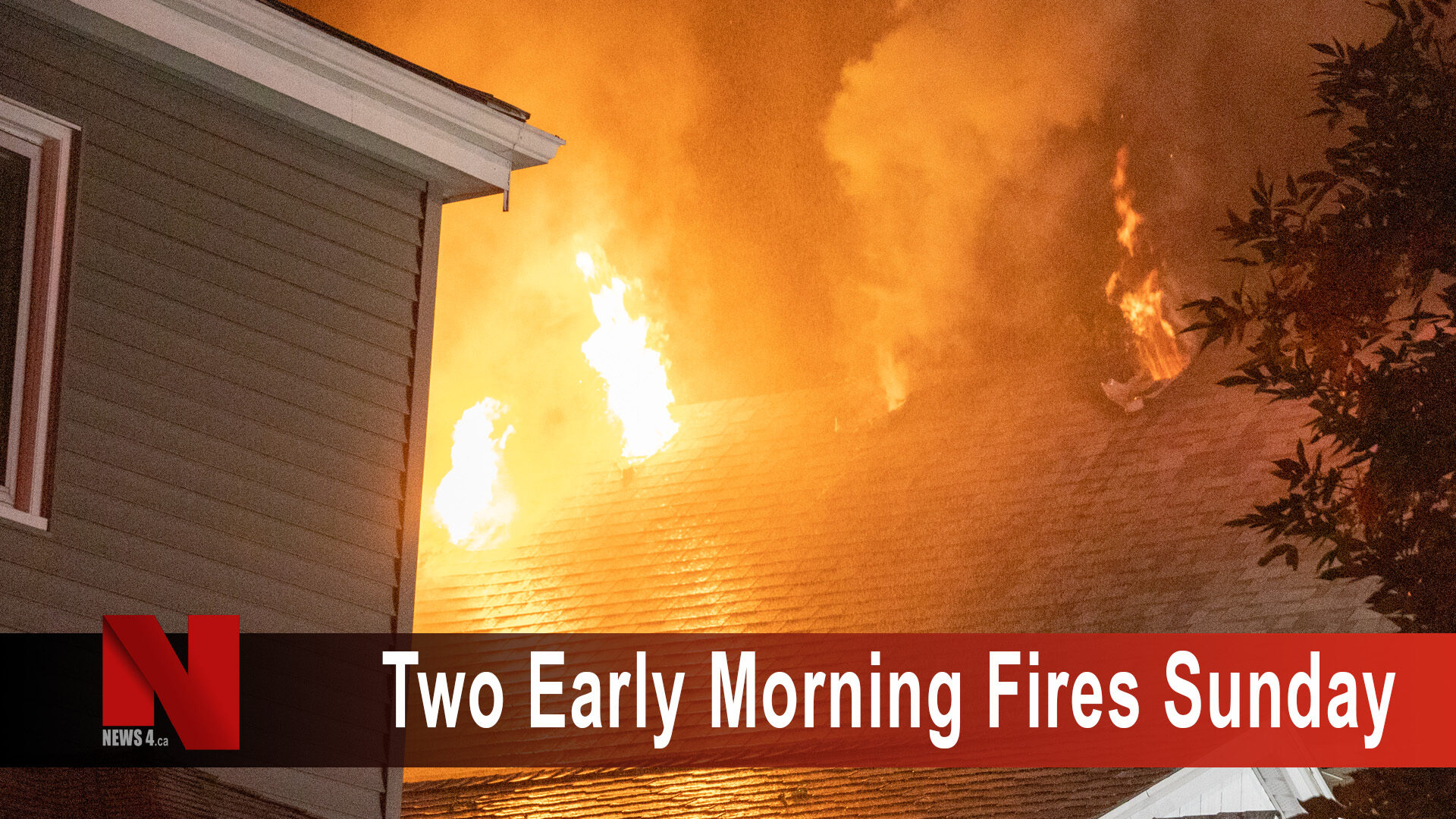 two early morning fires